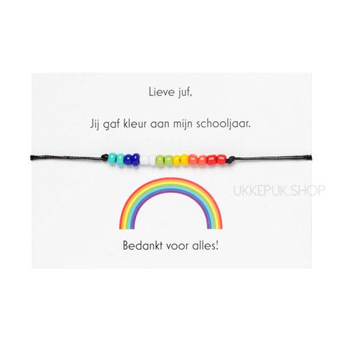 afscheid-bedankt-juf-corona-bedankjes-armband-schooljaar-bedank-lerares-juffrouw-leidster-kinderdagverblijf-cadeau-regenboog-zwart