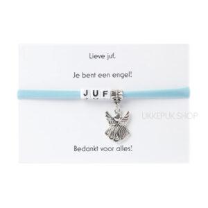 armband-juf-engel-bedankt-cadeau-kado-school-schooljaar-einde-bedankt-afscheidscadeau-kinderdagverblijf-juffrouw-lerares-armbandje-lichtblauw