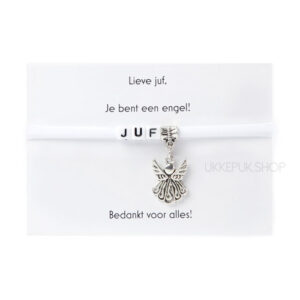 armband-juf-engel-bedankt-cadeau-kado-school-schooljaar-einde-bedankt-afscheidscadeau-kinderdagverblijf-juffrouw-lerares-armbandje-wit