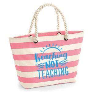 bedankt-juf-tas-strand-vakantie-beach-afscheid-schooljaar-einde-basisschool-leerkracht-juffen-lerares-leerkracht-roze-light-blue