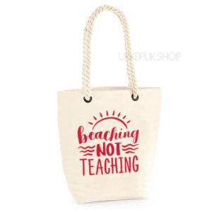 bedankt-lieve-juf-tas-strand-vakantie-beach-afscheid-schooljaar-einde-basisschool-leerkracht-juffen-lerares-leerkracht-ecru-rood