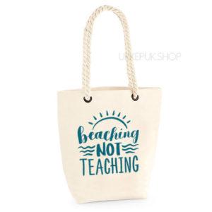 bedankt-lieve-juf-tas-strand-vakantie-beach-afscheid-schooljaar-einde-basisschool-leerkracht-juffen-lerares-leerkracht-ecru-turqouise