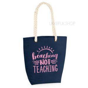 bedankt-lieve-juf-tas-strand-vakantie-beach-afscheid-schooljaar-einde-basisschool-leerkracht-juffen-lerares-leerkracht-navy-baby-pink