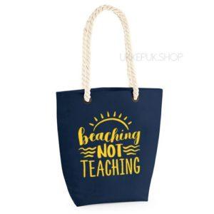 bedankt-lieve-juf-tas-strand-vakantie-beach-afscheid-schooljaar-einde-basisschool-leerkracht-juffen-lerares-leerkracht-navy-geel