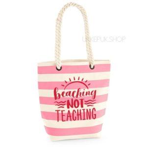 bedankt-lieve-juf-tas-strand-vakantie-beach-afscheid-schooljaar-einde-basisschool-leerkracht-juffen-lerares-leerkracht-roze-rood