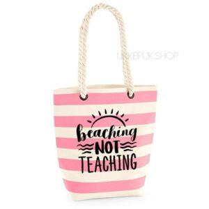 bedankt-lieve-juf-tas-strand-vakantie-beach-afscheid-schooljaar-einde-basisschool-leerkracht-juffen-lerares-leerkracht-roze-zwart