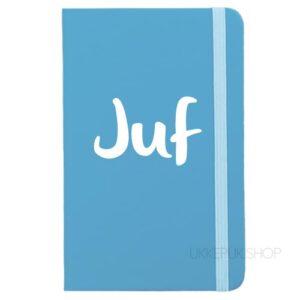 cadeau-juf-juffrouw-kerst-verjaardag-afscheid-juffendag-meester-leerkracht-lerares-schooljaar-notitieboek-juf-lichtblauw