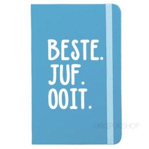 cadeau-juf-kerst-verjaardag-afscheid-juffendag-meester-leerkracht-lerares-schooljaar-notitieboek-beste-juf-ooit-lichtblauw