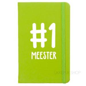 cadeau-juf-kerst-verjaardag-afscheid-juffendag-meester-leerkracht-lerares-schooljaar-notitieboek-nummer-1-meester-groen