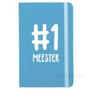 cadeau-juf-kerst-verjaardag-afscheid-juffendag-meester-leerkracht-lerares-schooljaar-notitieboek-nummer-1-meester-lichtblauw