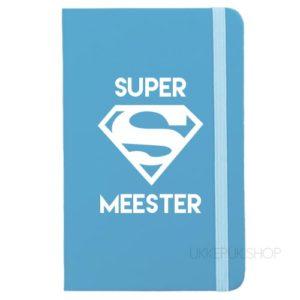 cadeau-juf-kerst-verjaardag-afscheid-juffendag-meester-leerkracht-lerares-schooljaar-notitieboek-super-meester-lichtblauw