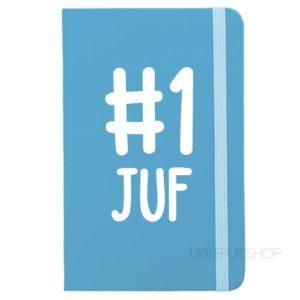 cadeau-juf-kerst-verjaardag-afscheid-juffendag-opvang-kinderdagverblijf-peuterspeelzaal-meester-leerkracht-lerares-schooljaar-notitieboek-nummer-1-juf-lichtblauw