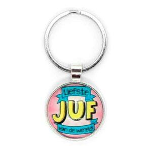 juf-bedank-liefste-sleutelhanger-afscheid-kado-cadeau-schooljaar-opvang-peuterspeelzaal-creche-dag-juffendag-verjaardag-lerares-leerkracht-school
