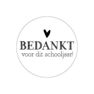sticker-bedankt-schooljaar-afscheid-school-juf-meester-leraar-vakantie-kado-cadeau-lerares-juffendag
